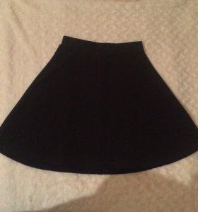 юбка черная zolla