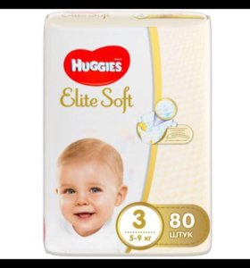Подгузники Huggies Elite Soft 3 5-9кг80шт
