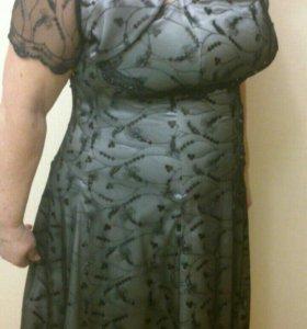 Новое платье - комплект к празднику.размер  52-54
