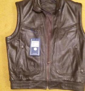 Жилет кожаный новый из Германии prince leather