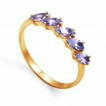 Золотое кольцо аметистом