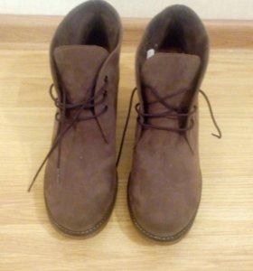 Ботинки из натурального замша.