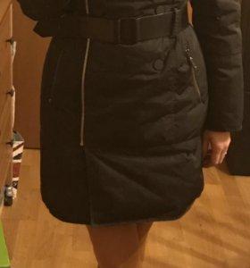 Пальто зимнее на пуху