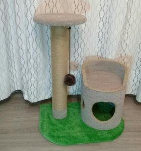 Новый домик для кота. Когтеточка
