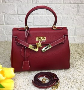 Кожаная женская сумка Hermes