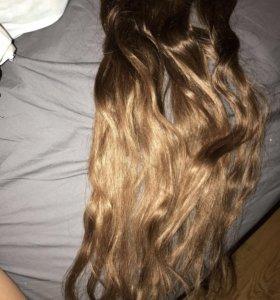 Волосы на трессах для наращивания