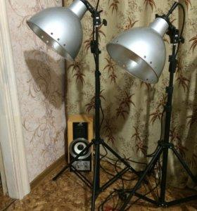 Две стойки осветительного оборудования REKAM+зонт