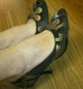 Туфли 39 натуральная замша и кожа