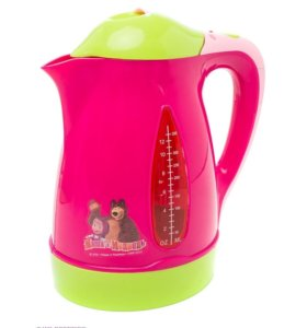 Чайник со светом и звуком воды и закипания
