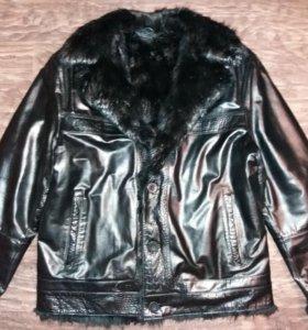 Куртка зимняя из натуральной кожи 48-50-52