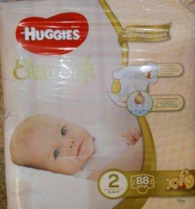 Подгузники Huggies Elite Soft 2(3-6 килограмм)