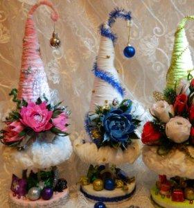 Ёлочка-украшение с конфетками