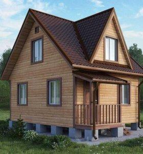 Красивый дом 6 на 6 из профилированного бруса.