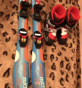 Горнолыжные лыжи и ботинки