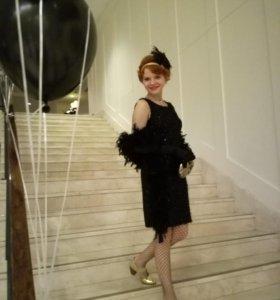 Платье,костюм-образ в стиле Чикаго,гетсби.