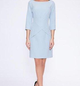 Платье голубое новое, размер 46