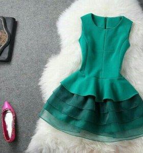 Платье новое бирюзовое