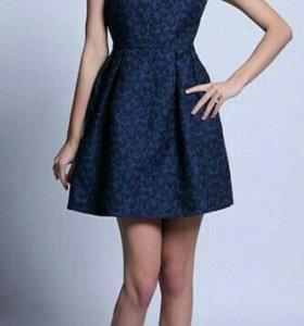 Платье новое темно-синее