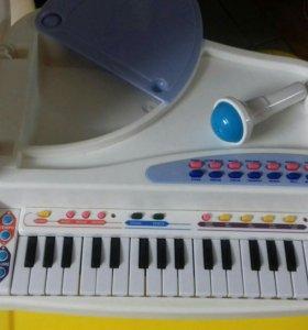 Детская рояль (пианино)+ микрофон
