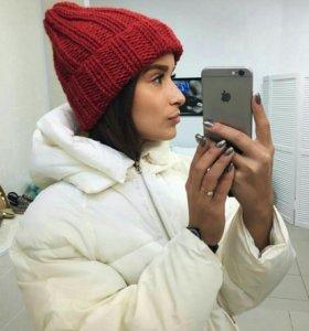 Модная объемная шапка