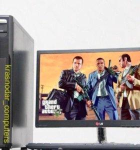 Компьютер - игровой 4x яд. / 4Gb / монитор 22
