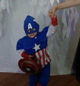Новогодний костюм «капитан Америка»