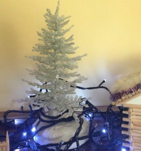Новогодняя ёлочка из бисера