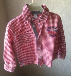 Рубашка на малыша 6-12 мес новая
