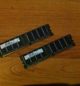 Hynix 1GB DDR 400MHz pc3200u (2 шт.)