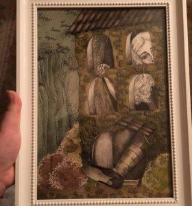 картина акрил Алиса