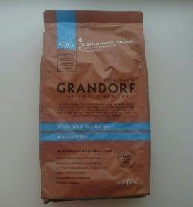 Корм Grandorf для собак всех пород белая рыба/рис