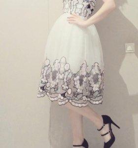 платье бандо Asos Salon
