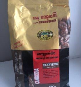 Настоящий камбоджийский шоколадный кофе (зерновой)