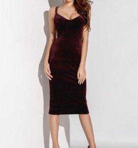 Бархатное платье новое с биркой