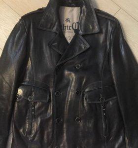 Куртка кожаная мужская тёплая