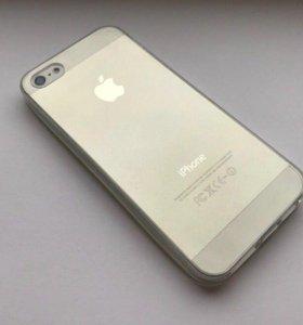 Прозрачная силиконовая накладка iPhone 5 / 5S / SE