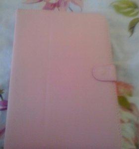 Чехол для планшета, розовый, с клавиатурой
