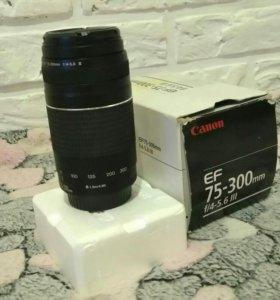 Продается объектив canon 75-300