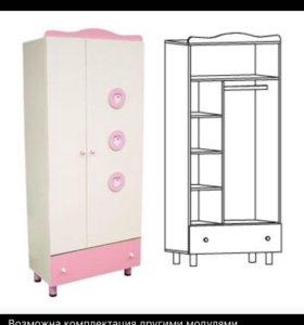 Шкаф и стеллаж «Принцесса»