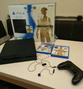 Sony Playstation 4 1Tb black +5 игр