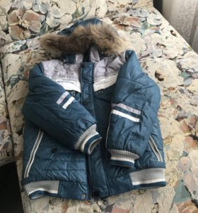 Курточка зимняя на мальчика рост 140