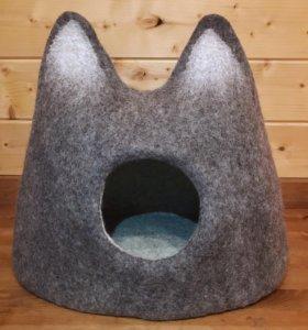 Домик для кошек из 100% шерсти в наличии