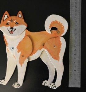 Игрушка огненная собака Шиба ину