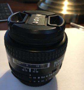 Объектив Nikon AF Nikkor 50mm 1.4
