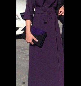Платье в пол , фиолетовое