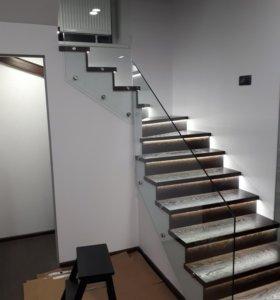 Лестницы и мебель из дерева и металла