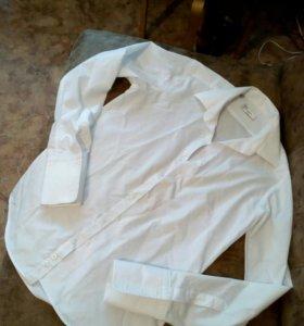Новая белая рубашка мужская Popolare