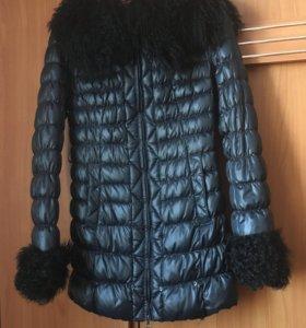 Куртка женская, натуральный мех, наполнитель пух,