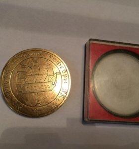 Памятная медаль XXV лет в ВМФ май 1975 год