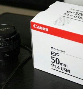 Объектив Canon EF 50mm f1.4USM